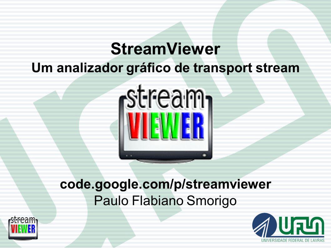StreamViewer Um analizador gráfico de transport stream code.google.com/p/streamviewer Paulo Flabiano Smorigo