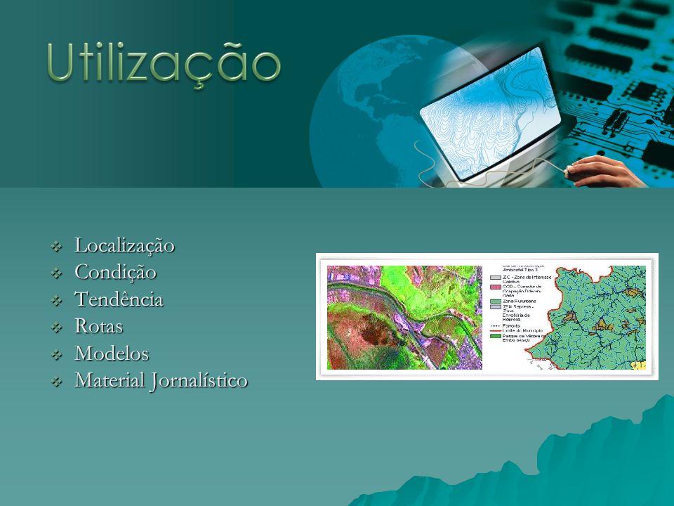 Localização Localização Condição Condição Tendência Tendência Rotas Rotas Modelos Modelos Material Jornalístico Material Jornalístico