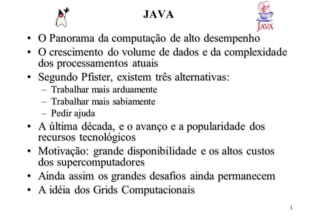 72 lista.addListSelectionListener(this); // Adiciona o JFrame como objeto ouvinte para seleções na lista JScrollPane Painel = new JScrollPane(lista); // Adiciona o JList lista ao Painel com barra de Rolagem (JScrollPane) getContentPane().setLayout(new GridLayout(6,1)); // Adiciona o gerenciador GridLayout com 6 linhas e 1 coluna getContentPane().add(L1); getContentPane().add(T1); getContentPane().add(Painel); getContentPane().add(bquant); getContentPane().add(bindice); getContentPane().add(bclear); } public void actionPerformed(ActionEvent e) // Método do JFrame para tratar ActionEvents { if (e.getSource()==T1) { listModel.addElement(T1.getText()); //adiciona itens a lista T1.setText( ); } if (e.getSource() == bquant) T1.setText( Quantidade: + listModel.getSize()); if (e.getSource() == bindice) T1.setText( Indice selecionado: + lista.getSelectedIndex()); if (e.getSource() == bclear) { int index = lista.getSelectedIndex(); L1.setText( Removido : + lista.getSelectedValue()); listModel.remove(index); } } public void valueChanged(ListSelectionEvent e) // Método do JFrame para tratar alterações na lista de seleção { L1.setText( Selecionado : + lista.getSelectedValue()); } } Ex: Ao remover um item não selecionado no exemplo acima provoca erro, corrija de modo a verificar se há algum item selecionado antes de removê-lo.