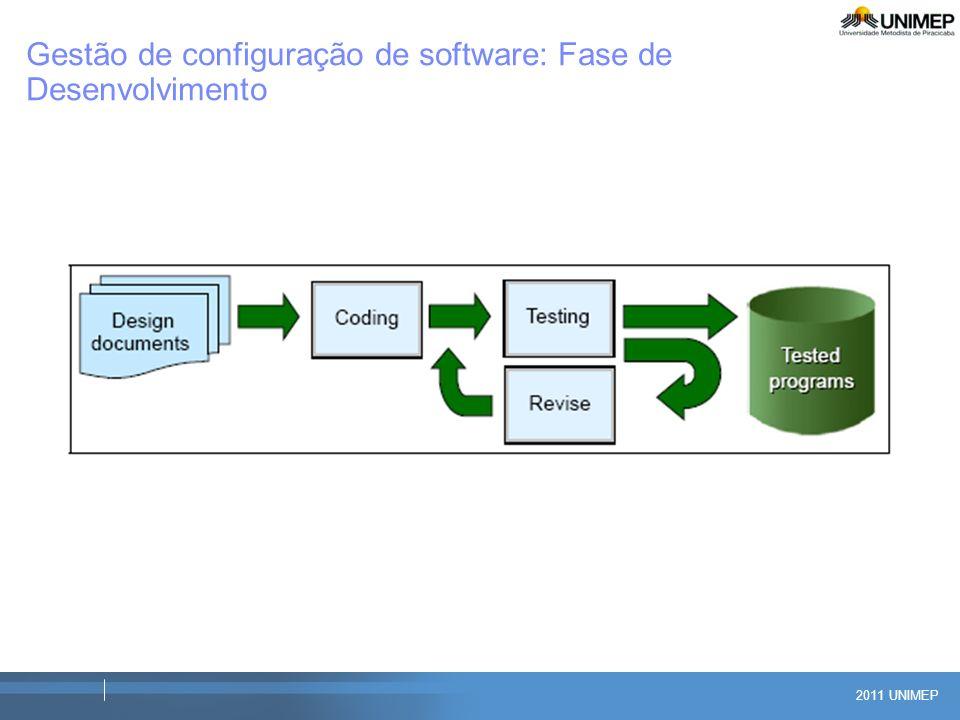 2011 UNIMEP Gestão de configuração de software: Fase de Desenvolvimento