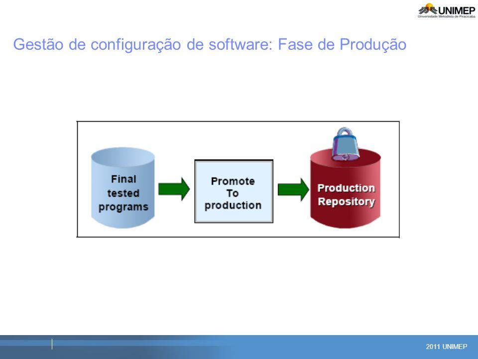 2011 UNIMEP Gestão de configuração de software: Fase de Produção