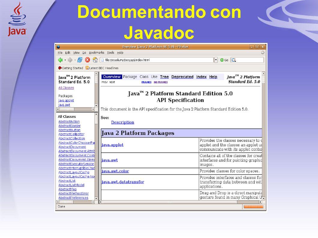 1 Documentando con Javadoc