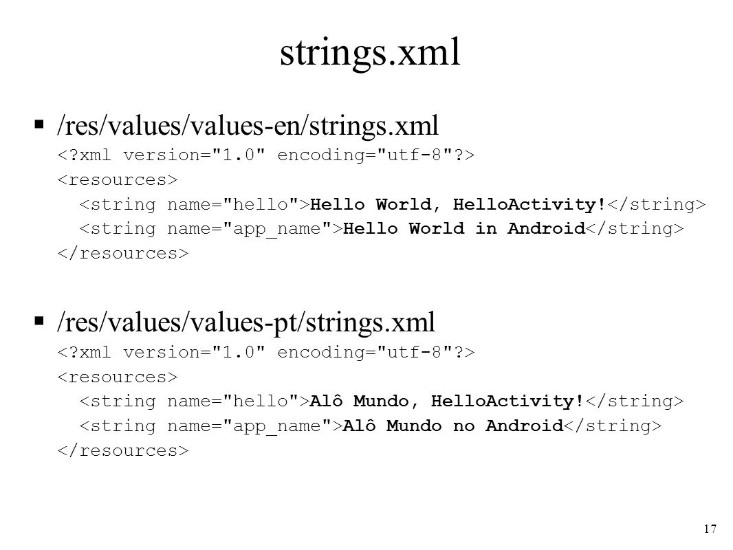 strings.xml /res/values/values-en/strings.xml Hello World, HelloActivity.