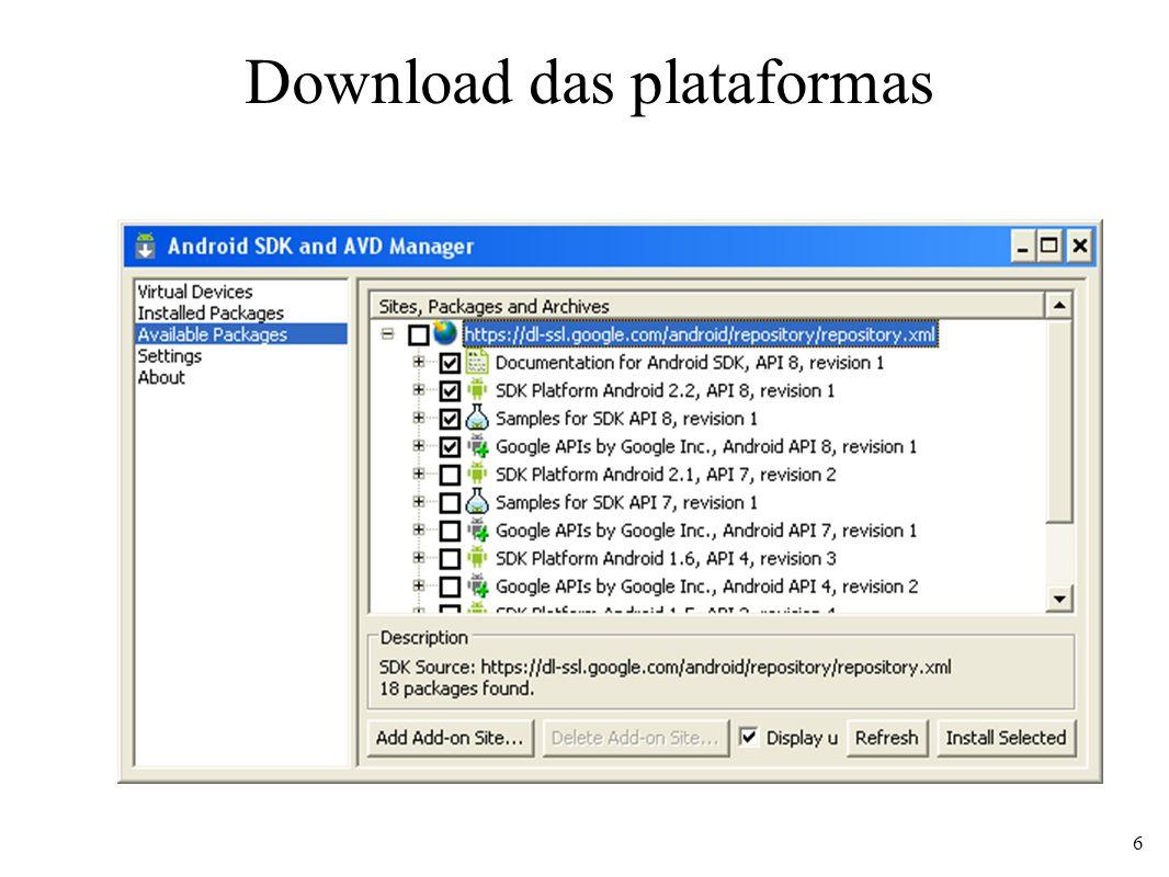 Interfaces gráficas - Layouts FrameLayout Componentes são organizados em pilha O último componente adicionado aparece na frente Atributos 37