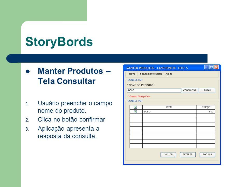 StoryBords Tela Registrar Vendas 1.Usuário preenche os campos obrigatorios.