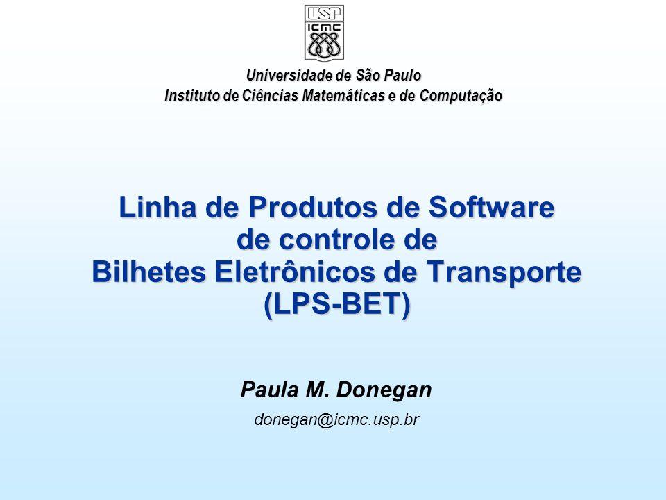 Seminários Avançados em Engenharia de Software – 2o./2007 2 Tópicos LPS-BET Requisitos Casos de Uso Diagrama de Features Modelo Conceitual Arquitetura da LPS-BET Componentes e Interfaces Especificação de Interfaces Composição de Componentes