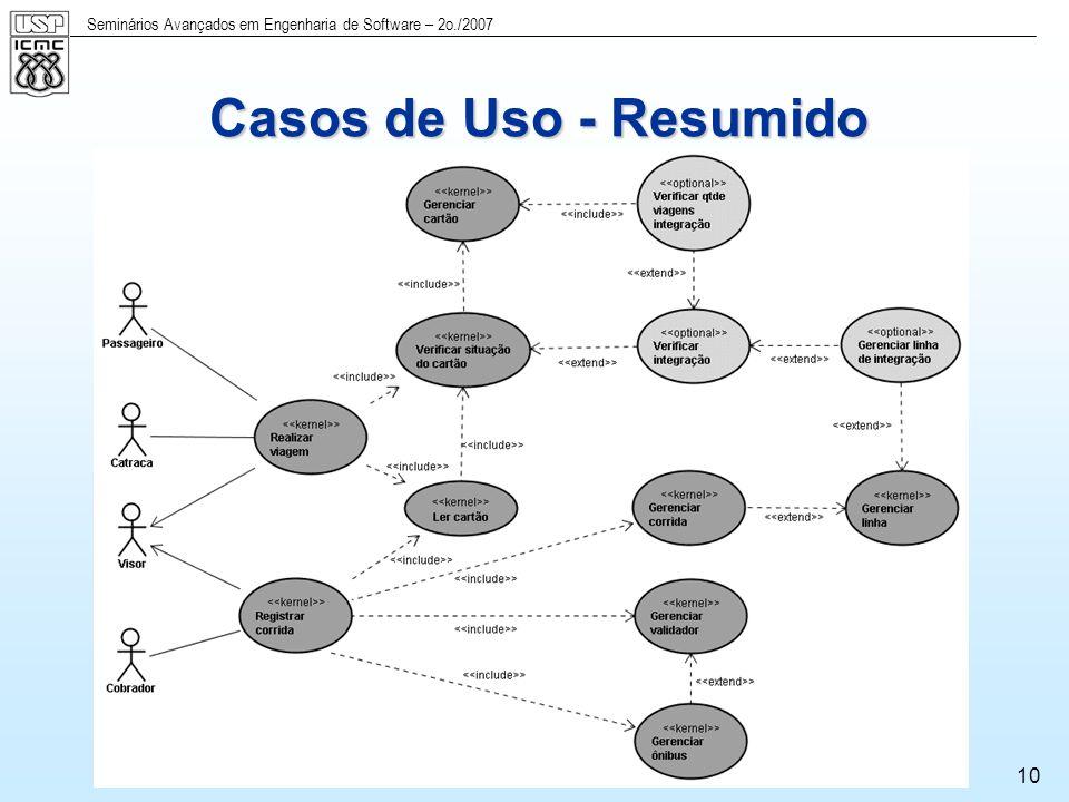 Seminários Avançados em Engenharia de Software – 2o./2007 11