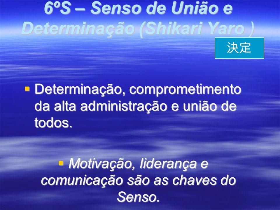 6ºS – Senso de União e Determinação (Shikari Yaro ) Determinação, comprometimento da alta administração e união de todos.