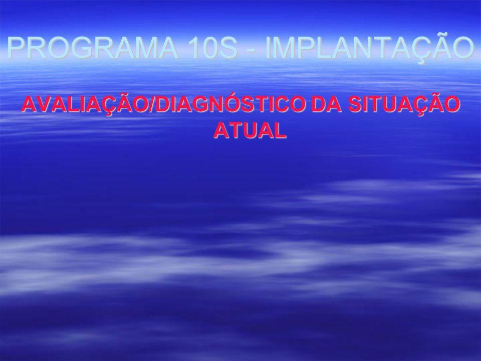 PROGRAMA 10S - IMPLANTAÇÃO AVALIAÇÃO/DIAGNÓSTICO DA SITUAÇÃO ATUAL