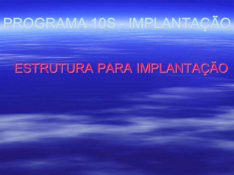 PROGRAMA 10S - IMPLANTAÇÃO ESTRUTURA PARA IMPLANTAÇÃO