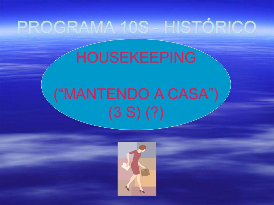 PROGRAMA 10S - HISTÓRICO HOUSEKEEPING (MANTENDO A CASA) (3 S) (?)