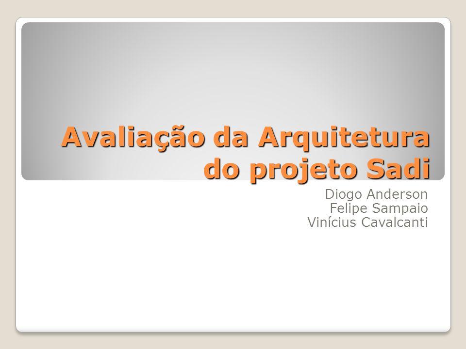 Avaliação da Arquitetura do projeto Sadi Diogo Anderson Felipe Sampaio Vinícius Cavalcanti