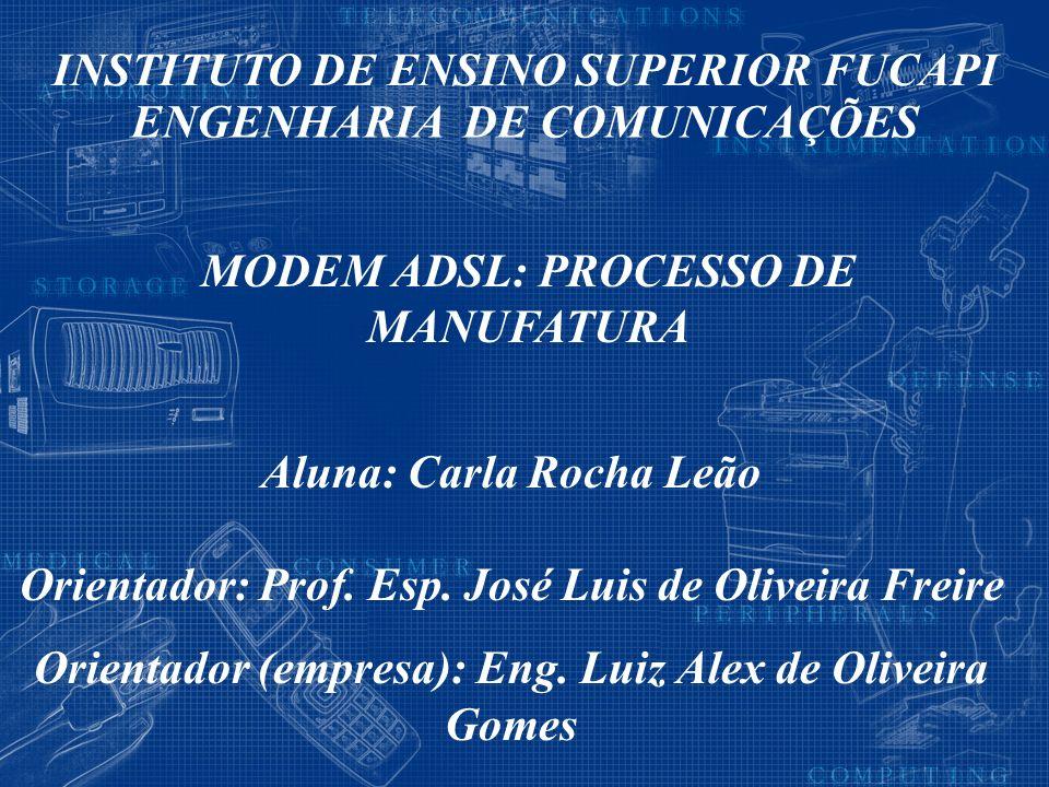 Aluna: Carla Rocha Leão Orientador: Prof. Esp. José Luis de Oliveira Freire Orientador (empresa): Eng. Luiz Alex de Oliveira Gomes INSTITUTO DE ENSINO