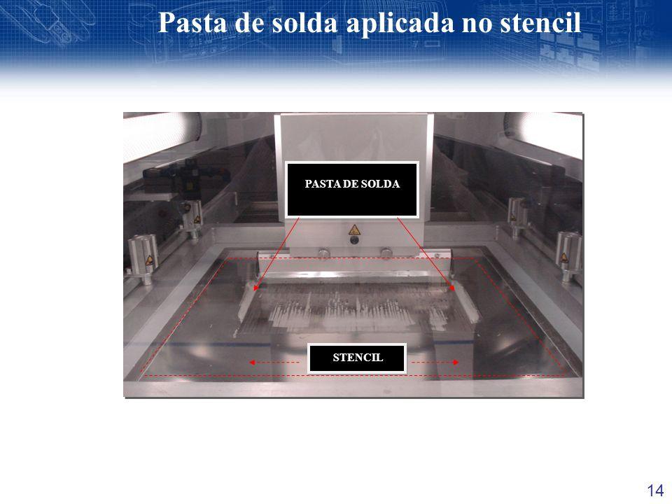 14 PASTA DE SOLDA STENCIL PASTA DE SOLDA STENCIL Pasta de solda aplicada no stencil