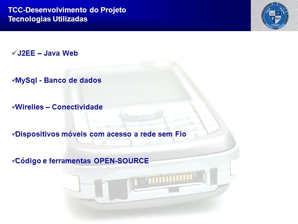 Sistema de Informação Bullet Point 1 Bullet Point 2 –Sub Bullet TCC-Desenvolvimento do Projeto Tecnologias Utilizadas J2EE – Java Web MySql - Banco de