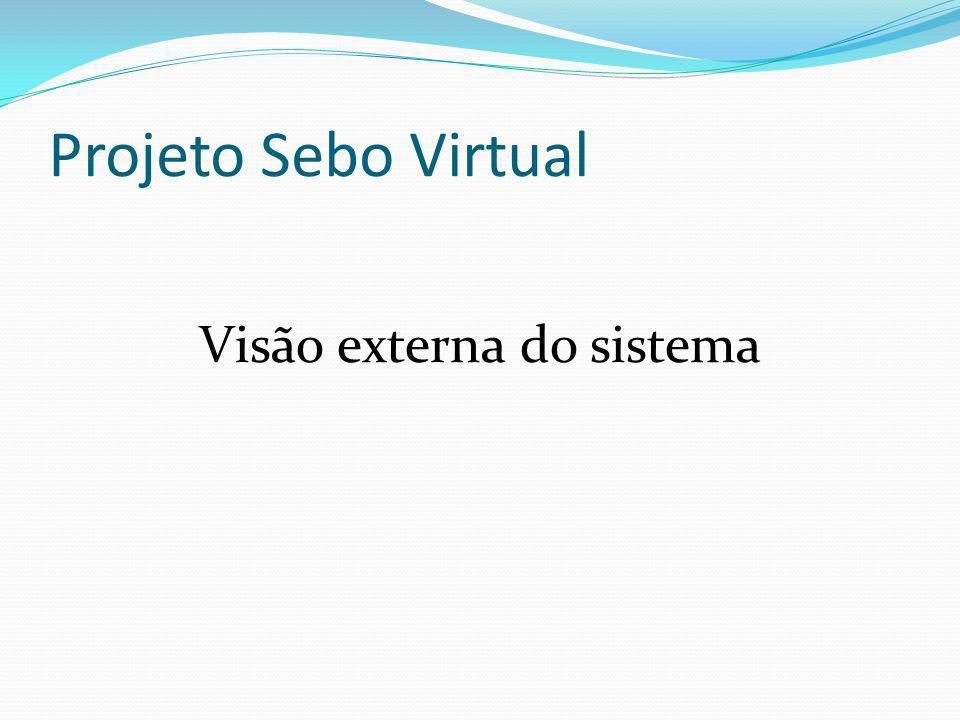 Projeto Sebo Virtual Visão externa do sistema