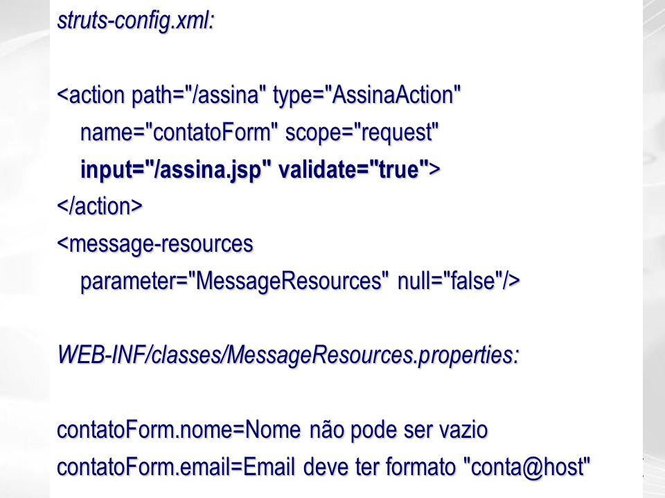struts-config.xml: <action path=