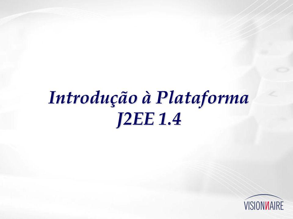 Padrões do JCP J2EE 1.4 (JSR-151 + 15 JSRs, jcp.org) J2EE 1.4 (JSR-151 + 15 JSRs, jcp.org) Padroniza quase tudo Padroniza quase tudo APIs APIs Schemas, Deployment Schemas, Deployment Comportamentos (ciclos de vida, etc.) Comportamentos (ciclos de vida, etc.) Não cobre: Não cobre: Ferramentas, Metodologias Ferramentas, Metodologias QoS QoS Integração (ex.: suporte a SGBDs e middlewares) Integração (ex.: suporte a SGBDs e middlewares) http://java.sun.com/reference/blueprints/ http://java.sun.com/reference/blueprints/