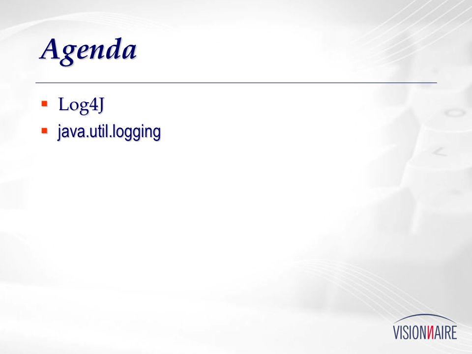 Agenda Log4J Log4J java.util.logging java.util.logging