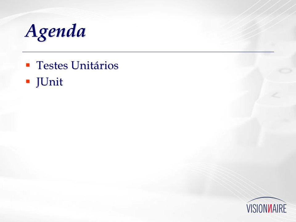 Agenda Testes Unitários Testes Unitários JUnit JUnit