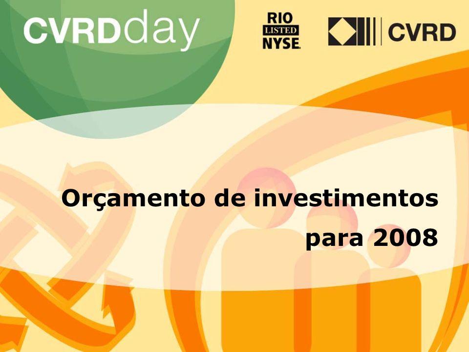 28 Orçamento de investimentos para 2008