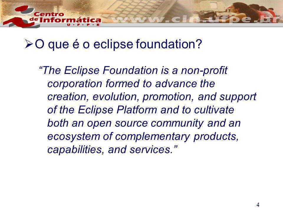 4 O que é o eclipse foundation.