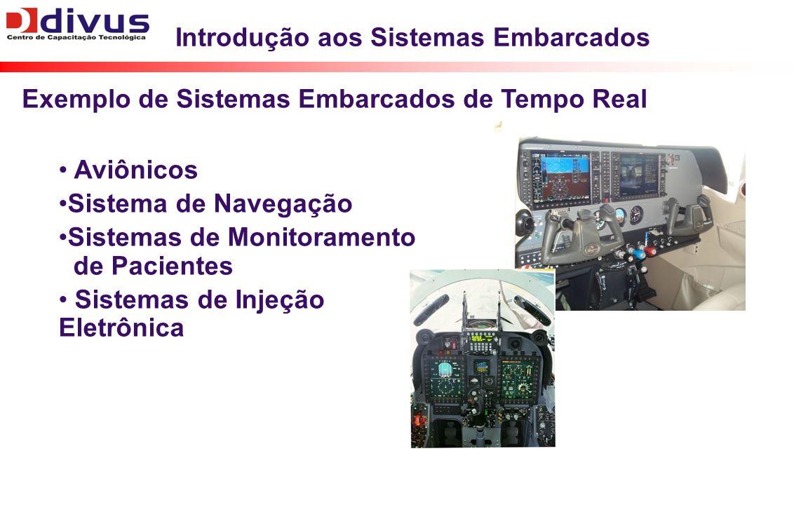 Introdução aos Sistemas Embarcados Aviônicos Sistema de Navegação Sistemas de Monitoramento de Pacientes Sistemas de Injeção Eletrônica Exemplo de Sis