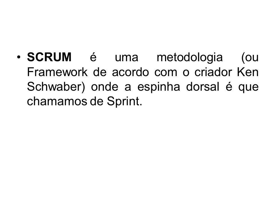SCRUM é uma metodologia (ou Framework de acordo com o criador Ken Schwaber) onde a espinha dorsal é que chamamos de Sprint.