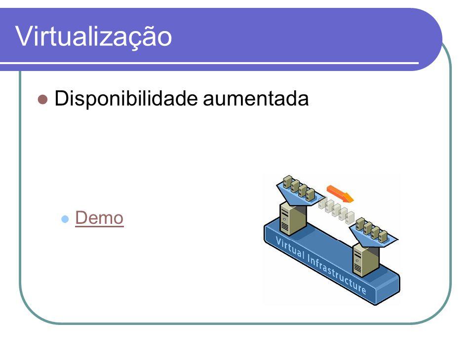 Virtualização Disponibilidade aumentada Demo