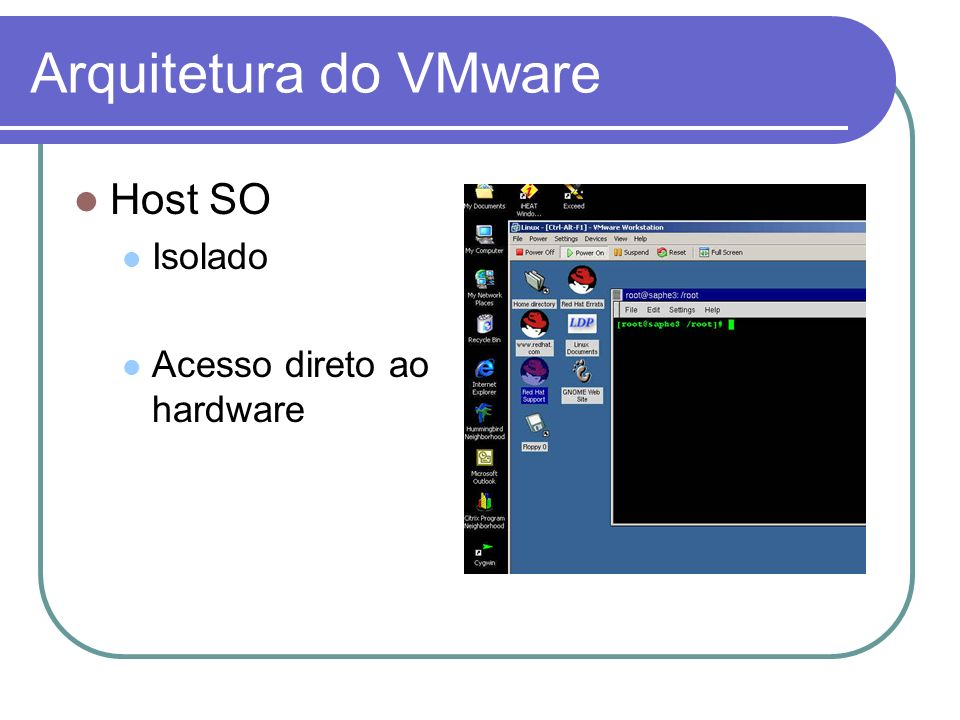 Host SO Isolado Acesso direto ao hardware