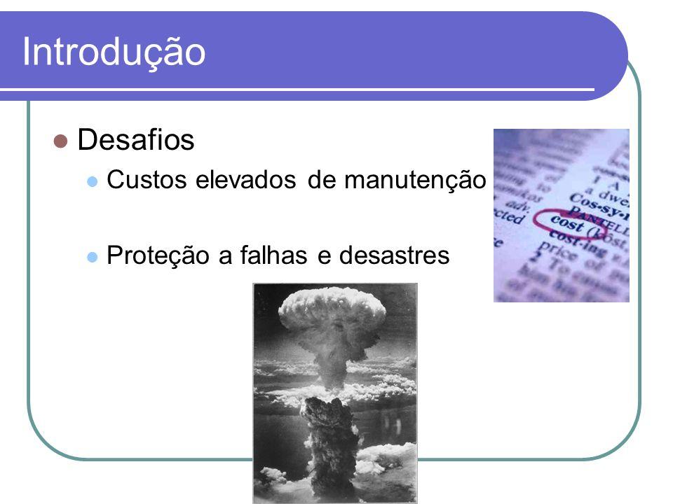 Introdução Desafios Custos elevados de manutenção Proteção a falhas e desastres