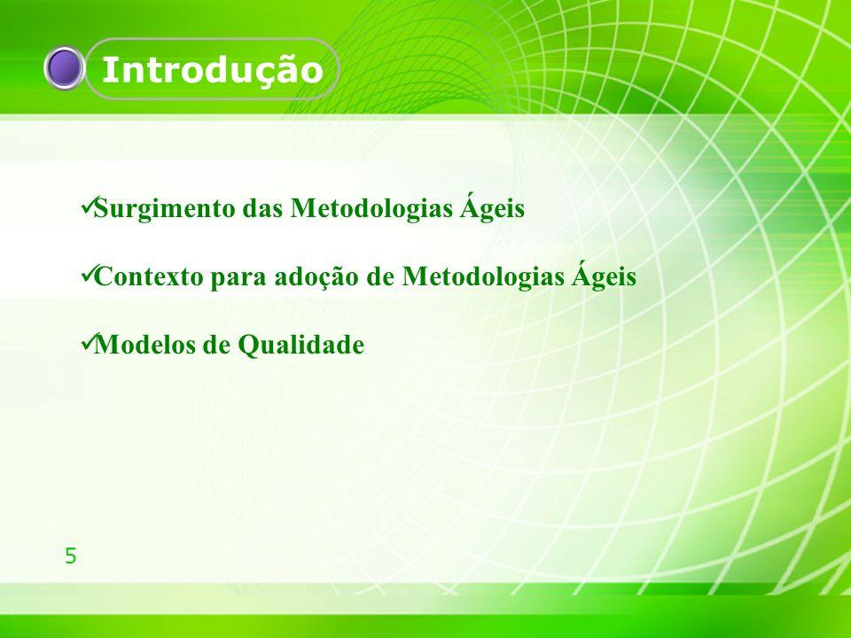 16 Fundamentação Teórica Modelo de Qualidade Mps.Br (SOFTEX, 2009); Baseado nas normas ISO/IEC 12.207 e ISO/IEC 15.504; Adequado aos processos definidos pelo CMMI; Níveis de Maturidade de A-G;