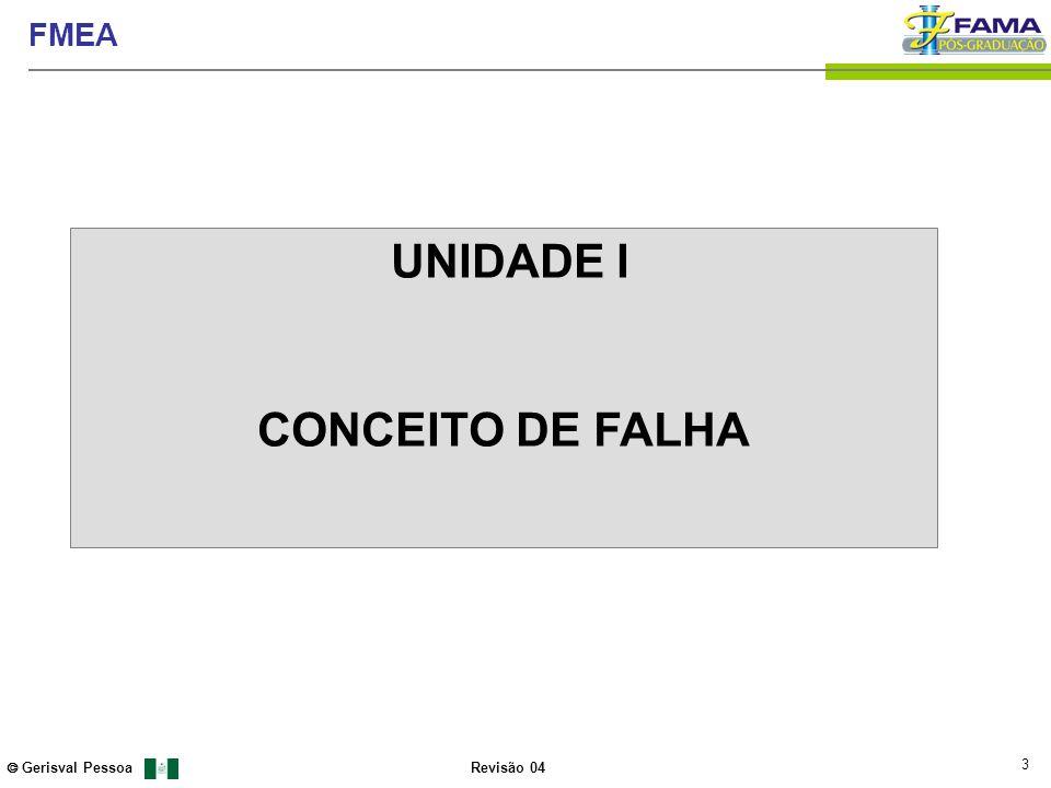 3 Gerisval Pessoa FMEA Revisão 04 UNIDADE I CONCEITO DE FALHA