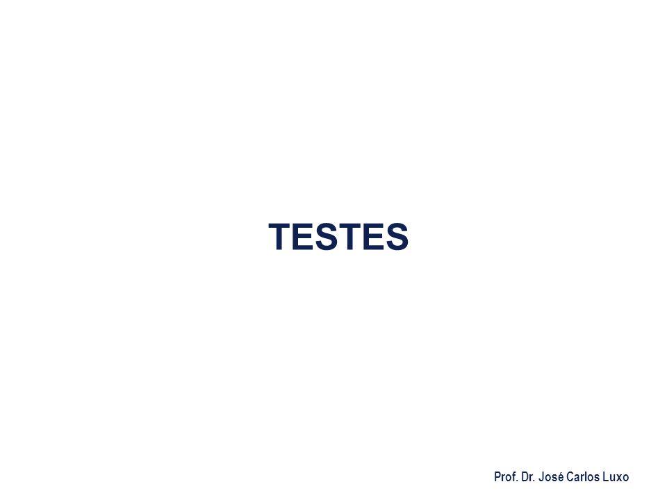 Prof. Dr. José Carlos Luxo TESTES