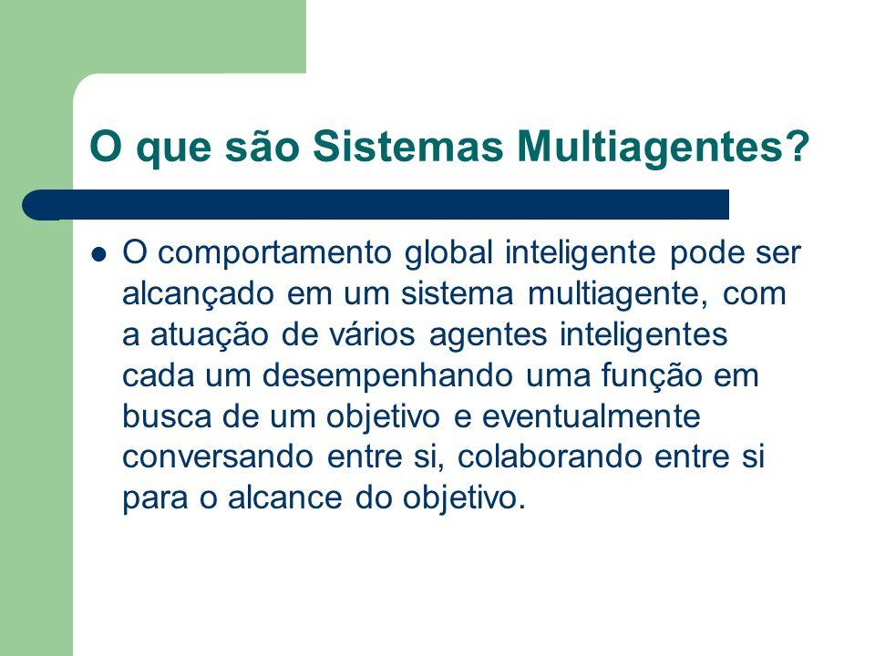 Características dos agentes Habilidade Social Capacidade de Reação Capacidade Pró-Ativa
