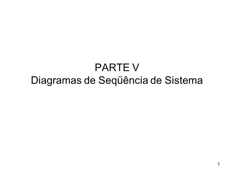 1 PARTE V Diagramas de Seqüência de Sistema