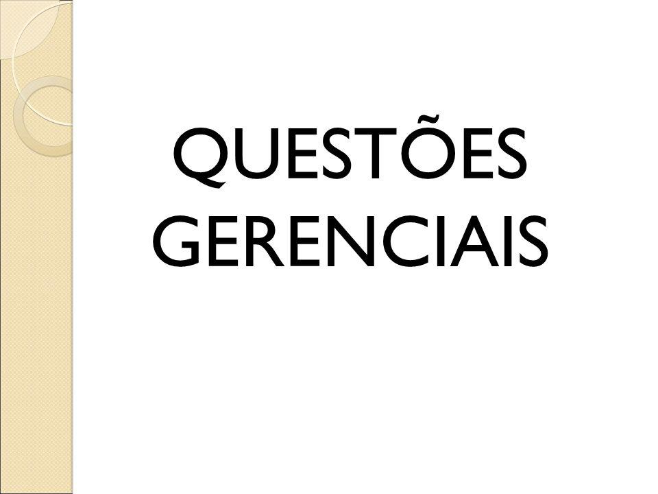 QUESTÕES GERENCIAIS
