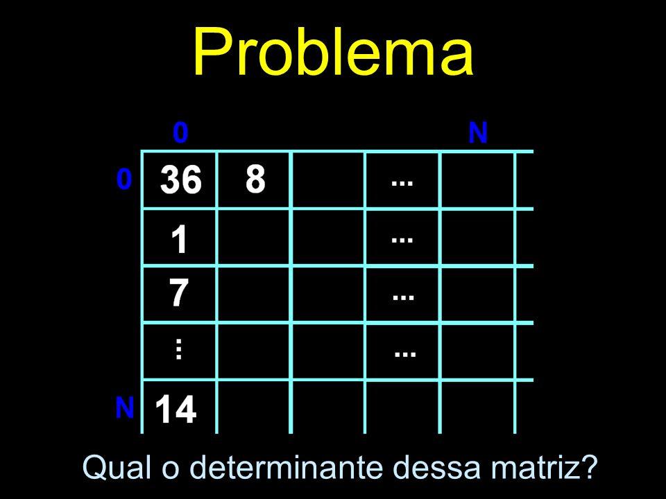 Problema Qual o determinante dessa matriz?