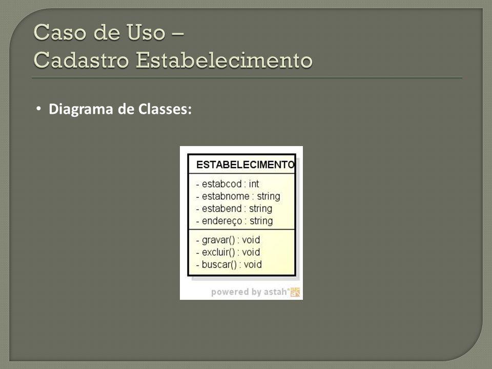Diagrama de Classes: