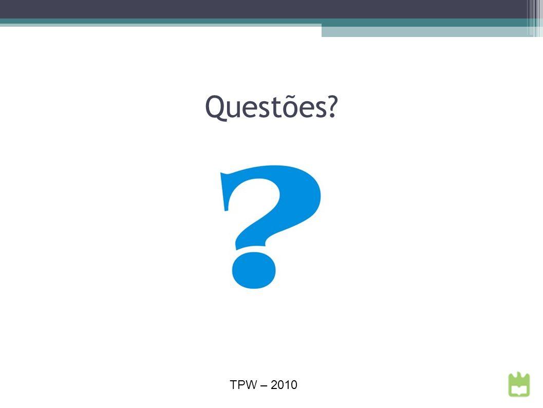 Questões TPW – 2010
