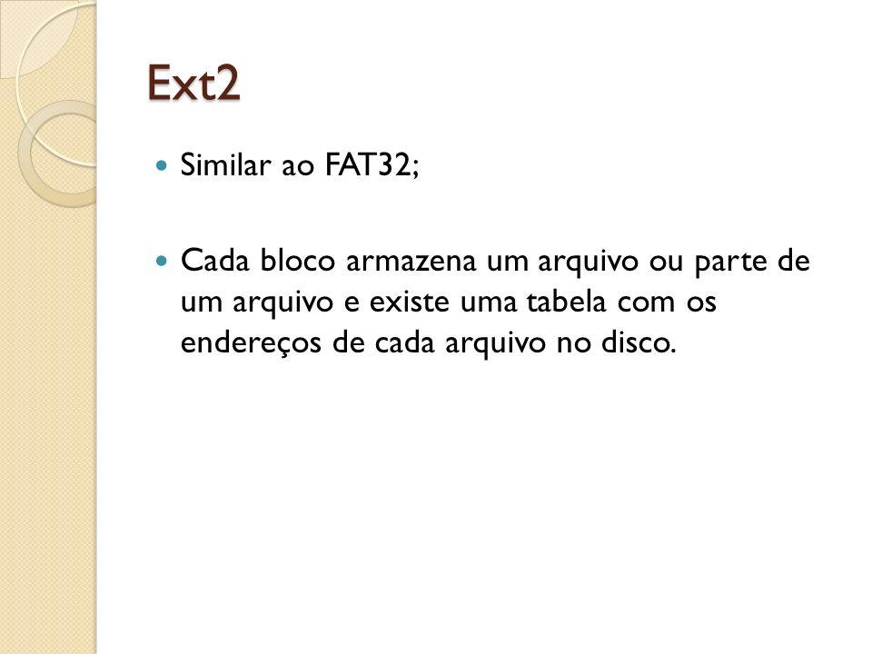 Ext4 No Ext3 uma partição de, no máximo, 32 TB (terabytes) e manipular arquivos de até 2 TB de tamanho.