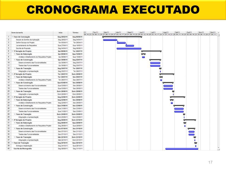 CRONOGRAMA EXECUTADO 17