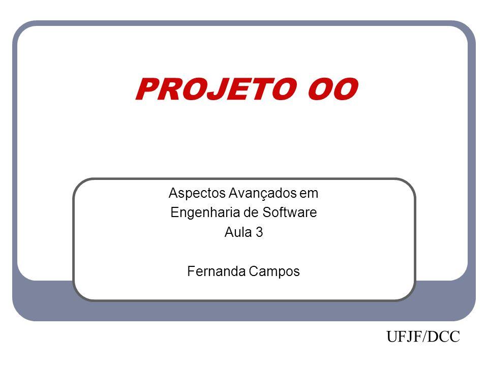 PROJETO OO Aspectos Avançados em Engenharia de Software Aula 3 Fernanda Campos UFJF/DCC