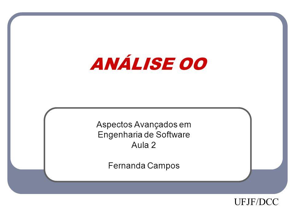 ANÁLISE OO Aspectos Avançados em Engenharia de Software Aula 2 Fernanda Campos UFJF/DCC