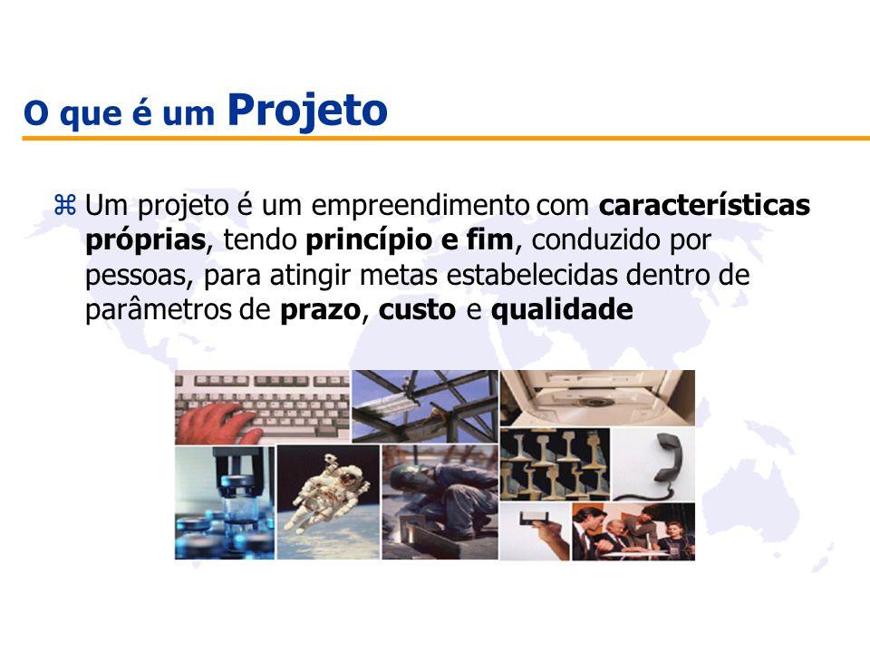 O que é um Projeto zUm projeto é um empreendimento com características próprias, tendo princípio e fim, conduzido por pessoas, para atingir metas esta