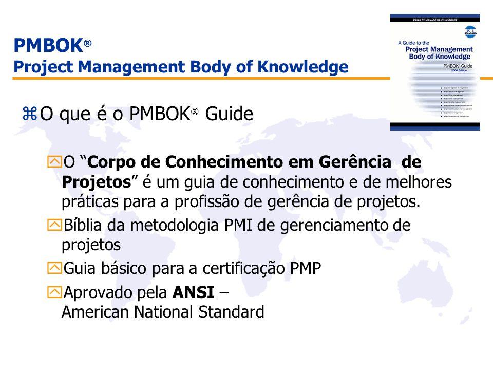 PMBOK Project Management Body of Knowledge O que é o PMBOK Guide yO Corpo de Conhecimento em Gerência de Projetos é um guia de conhecimento e de melho