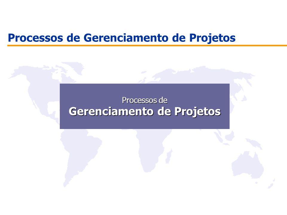 Processos de Gerenciamento de Projetos Processos de Processos de Gerenciamento de Projetos Gerenciamento de Projetos