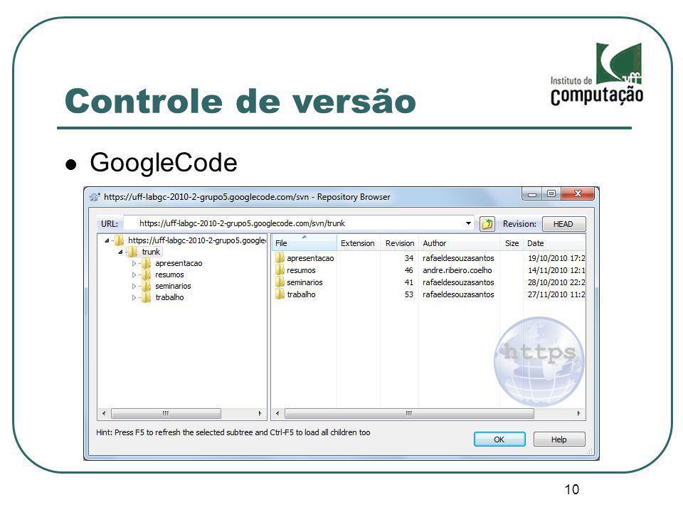 10 Controle de versão GoogleCode