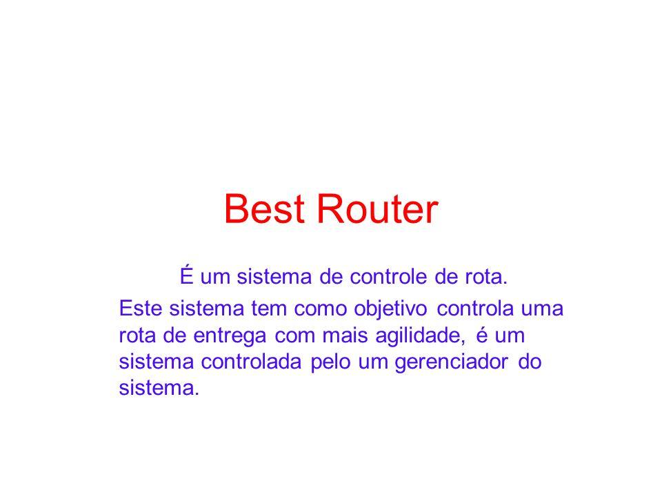 Best Router É um sistema de controle de rota. Este sistema tem como objetivo controla uma rota de entrega com mais agilidade, é um sistema controlada
