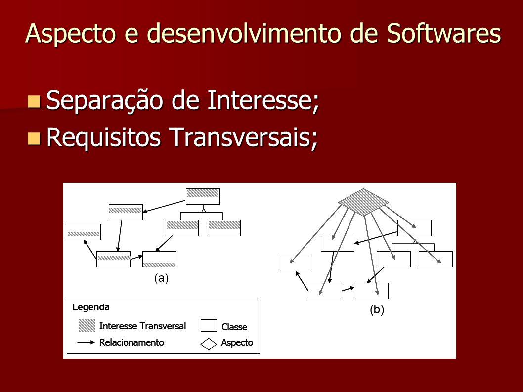 Separação de Interesse; Separação de Interesse; Requisitos Transversais; Requisitos Transversais; Aspecto e desenvolvimento de Softwares
